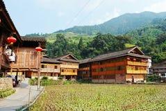 Den yao nationaliteten av huset Arkivbild