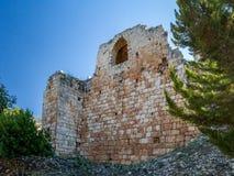 Den Yehiam fästningen, Israel Arkivbild