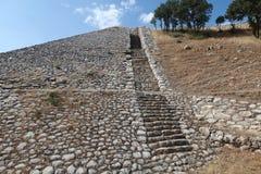 Den Yerkapi vallen i söderna av Hattusa, Turkiet Arkivfoto