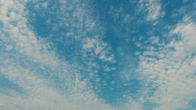 Den yrkesmässiga tidschackningsperioden av himmel med flyg fördunklar, inga fåglar, inget fladdrande arkivfilmer