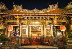 Den yttre arkitekturen av den Longshan templet royaltyfri foto