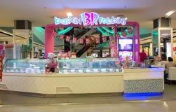 Den yttre sikten av Baskin Robbins glass shoppar Arkivfoton