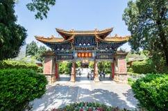 Den Yuantong templet är den mest berömda buddistiska templet i det Kunming, Yunnan landskapet, Kina Arkivbilder