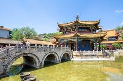 Den Yuantong templet är den mest berömda buddistiska templet i det Kunming, Yunnan landskapet, Kina royaltyfri bild