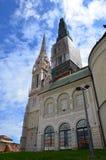 Den Zagreb domkyrkan Royaltyfri Foto