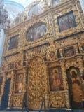 Den Znamenskaya kyrkakyrkan av vår dam av undertecknar in Dubrovitsy fotografering för bildbyråer