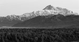Denali山脉Mt麦金莱阿拉斯加北美 免版税库存照片