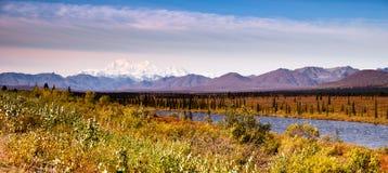 Denali范围Mt麦金莱阿拉斯加北美 库存图片
