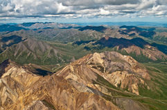 Denali. Flight over Denali National Park Stock Images
