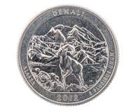 Denali Commemorative Quarter Coin Stock Photography