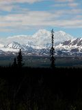 Denali - crête la plus grande de l'Amérique du Nord Photos stock