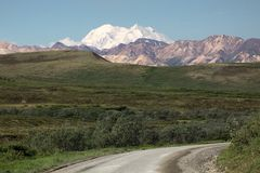Above the rest: Denali - formerly known as Mt McKinley - Alaska royalty free stock images