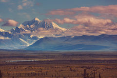 Denali highway. Landscapes on Denali highway, Alaska. Instagram filter Stock Images