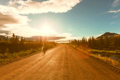 Denali highway. Landscapes on Denali highway, Alaska. Instagram filter Stock Photography