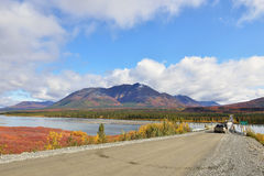 Denali Hwy and Susitna River, Alaska Stock Photography