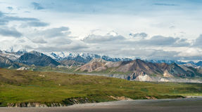 Denali landscape. Denali national park landscape from visitor center Stock Image