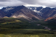 Denali Mountains. Mountains in Denali National Park from Polychrome Pass Royalty Free Stock Image
