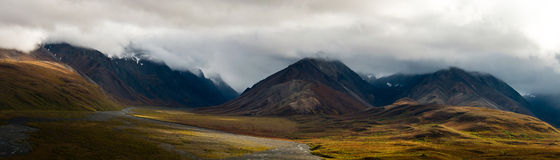 Denali Mountains Panorama Royalty Free Stock Photo