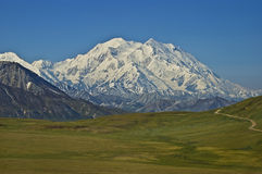 Denali Mt McKinley Mountain. Mt. McKinley Denali National Park Alaska Stock Photography