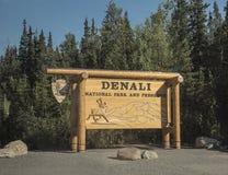 Denali Nationaal Park en Domeinteken, Alaska Stock Foto