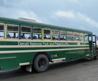 Denali National Park bus. Denali National Park And preserve bus takes tourists to explore the Park wildlife and sites Stock Photography