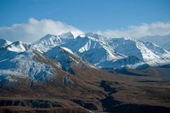 Denali park Alaska. Mountain range in Denali park Alaska Royalty Free Stock Photos