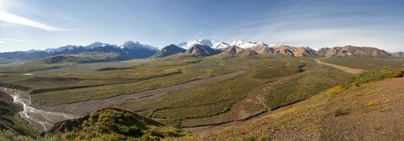 Denali Park Alaska Huge Panorama with Mc Kinley Mountain Stock Photos