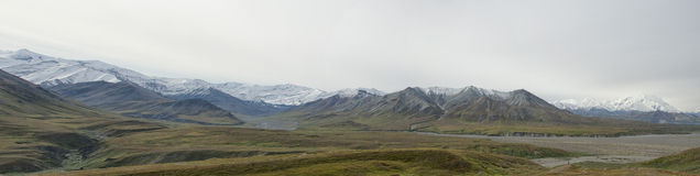 Denali Park Mount Mc Kinley panorama Royalty Free Stock Photo