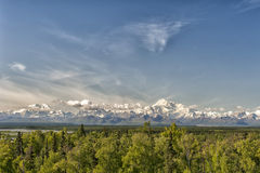 Denali Park Mount Mc Kinley panorama Royalty Free Stock Photography
