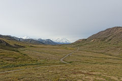 Denali Park Mount Mc Kinley panorama Royalty Free Stock Photos