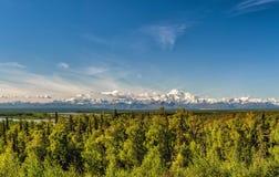 Denali Park Mount Mc Kinley panorama Stock Photo