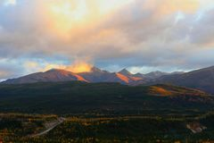 Denali park narodowy w jesieni Zdjęcie Stock