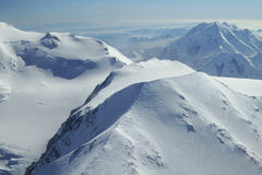 Denali Peaks. Photo of peaks in Denali National Park, Alaska Stock Image