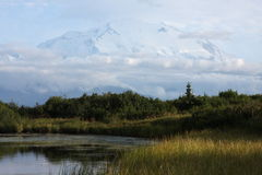 Denali and Reflection Pond Royalty Free Stock Photography
