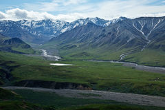 Denali's Mountains and Valleys Stock Image