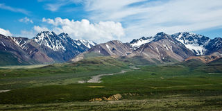 Denali's Mountains and Valleys Royalty Free Stock Images