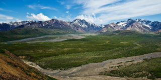 Denali's Polychrome Pass Stock Photo