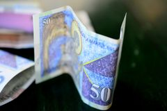Denar macedonian curency , banknote Stock Images