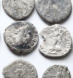 Denario romano Imagen de archivo libre de regalías