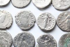 Denario romano Fotos de archivo