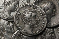 Denaro, Antoninus Pius Fotografia Stock Libera da Diritti