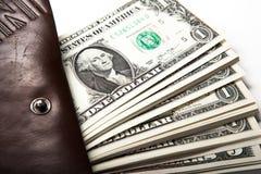Denaro per le piccole spese in vostro portafoglio Fotografie Stock Libere da Diritti
