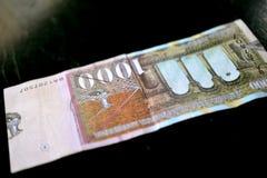 denaru macedonian curency, banknot Obraz Royalty Free