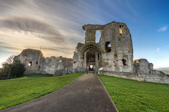Denbigh Castle. Ruins of Denbigh Castle in North Wales Stock Image