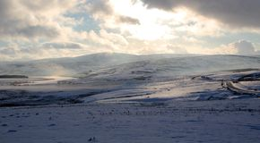 Denbigh Moors in snow. Royalty Free Stock Photography