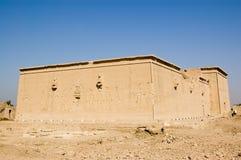 dendera埃及西部海拔的寺庙 库存图片