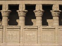 Dendera寺庙。 详细资料。 埃及 库存图片