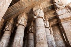 Dendera寺庙在埃及 免版税库存照片