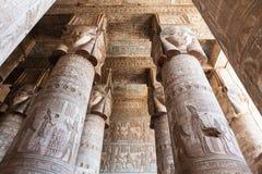 Dendera tempel i Egypten Arkivfoto