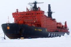 dendrev isbrytaren tog expedition till nordpolen Fotografering för Bildbyråer